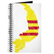 South Vietnam Flag And Map Journal