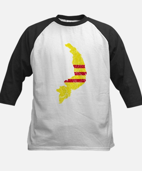 South Vietnam Flag And Map Kids Baseball Jersey