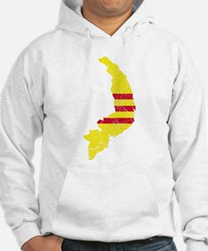 South Vietnam Flag And Map Hoodie