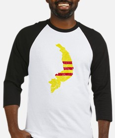 South Vietnam Flag And Map Baseball Jersey