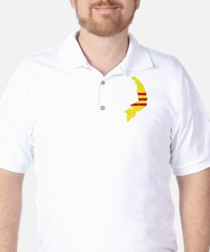 South Vietnam Flag And Map T-Shirt