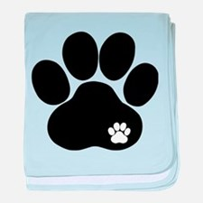Double Paw Print baby blanket