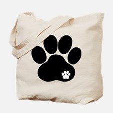 Double Paw Print Tote Bag