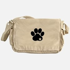 Double Paw Print Messenger Bag