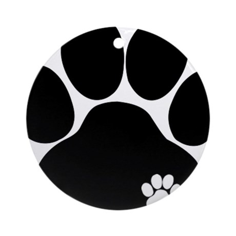 Double Paw Print Ornament (Round)
