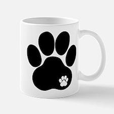 Double Paw Print Mug