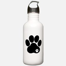 Double Paw Print Sports Water Bottle