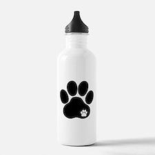 Double Paw Print Water Bottle