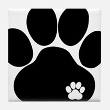 Double Paw Print Tile Coaster