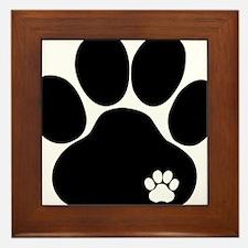 Double Paw Print Framed Tile