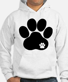 Double Paw Print Jumper Hoody