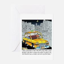Reindeer Cabbie Greeting Card