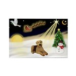 Night Flight/Airedale #5 Rectangle Magnet