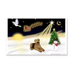 Night Flight/Airedale #5 Rectangle Car Magnet