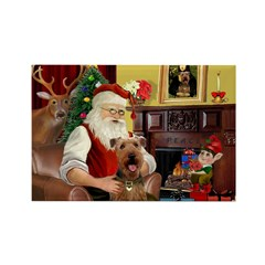 Santas Airedale Rectangle Magnet (10 pack)