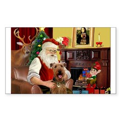 Santas Airedale Decal