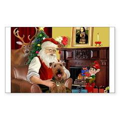 Santas Airedale Decal