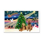 XmasMagic/Airedale Rectangle Car Magnet