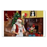 Santa & Akita Sticker (Rectangle 50 pk)