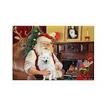 Santa's Eskimo Spitz Rectangle Magnet (10 pack)