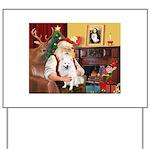 Santa's Eskimo Spitz Yard Sign