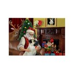 Santa/Anatolian Shep Rectangle Magnet (10 pack)