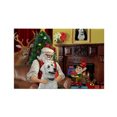Santa & Anatolian Rectangle Magnet (10 pack)