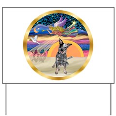 XmasStar/Cattle Dog Yard Sign