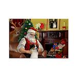 Santa's Aussie (Tri2) Rectangle Magnet (10 pack)