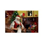 Santa's Aussie (Tri2) Rectangle Magnet