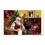 Santa's Aussie (Tri2) Sticker (Rectangle)