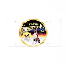 XmasDove/Basenji #2 Aluminum License Plate