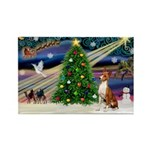 XmasMagic/Basenji #2 Rectangle Magnet