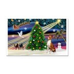 XmasMagic/Basenji #2 Rectangle Car Magnet