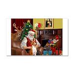 Santa's Basenji (#2) Car Magnet 20 x 12