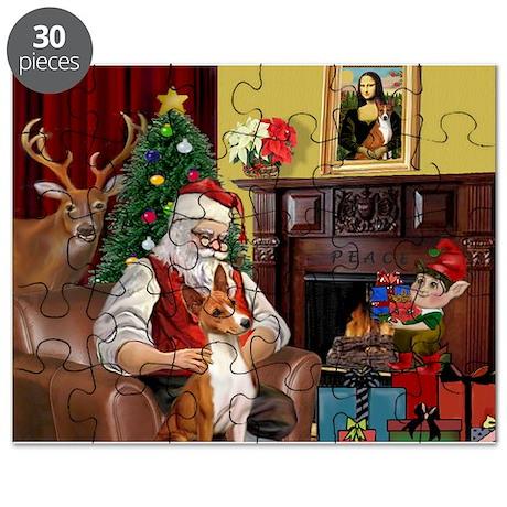 Santa's Basenji (#2) Puzzle