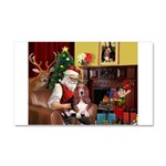 Santa's Basset Hound Car Magnet 20 x 12