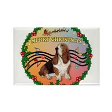 XmasMusic 2MC/Basset Rectangle Magnet