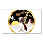 Night Flight/Beagle #2 Sticker (Rectangle)