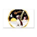 Night Flight/Beagle #2 Rectangle Car Magnet