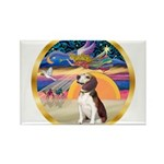 XmasStar/Beagle 2 Rectangle Magnet (10 pack)