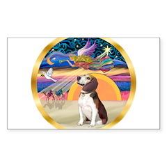 XmasStar/Beagle 2 Sticker (Rectangle 50 pk)