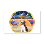 XmasStar/Beagle 2 Rectangle Car Magnet