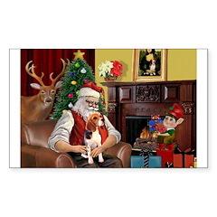 Santa's Beagle Decal