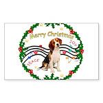 XmasMusic1MC/ Beagle Sticker (Rectangle)