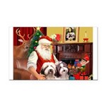 Santa's Beardie pair Rectangle Car Magnet