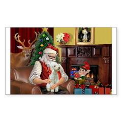 Santa's Bedlington Decal