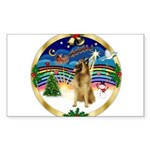 XmasMusic 3/Tervuren Sticker (Rectangle 50 pk)
