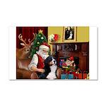Santa's Home & Bernese Car Magnet 20 x 12