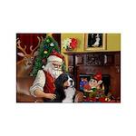 Santa's Home & Bernese Rectangle Magnet (10 pack)